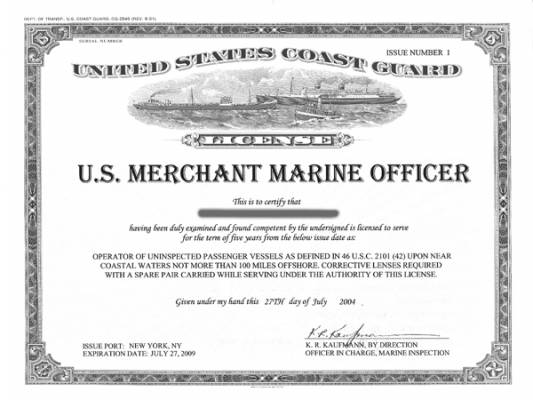 How to get a captains license oupv saint petersburg for Where do you get a fishing license