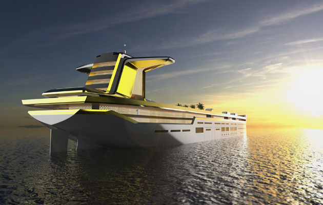 Imara concept to transform oil tankers into superyachts by Captain Allen Clark in Saint Petersburg FL